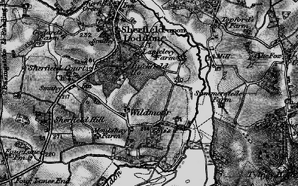 Old map of Wildmoor in 1895