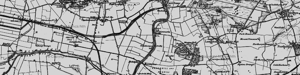 Old map of Wildsworth in 1895