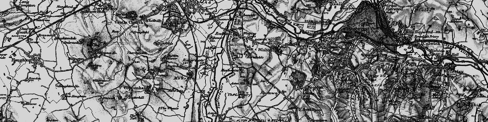 Old map of Larchery, The in 1898