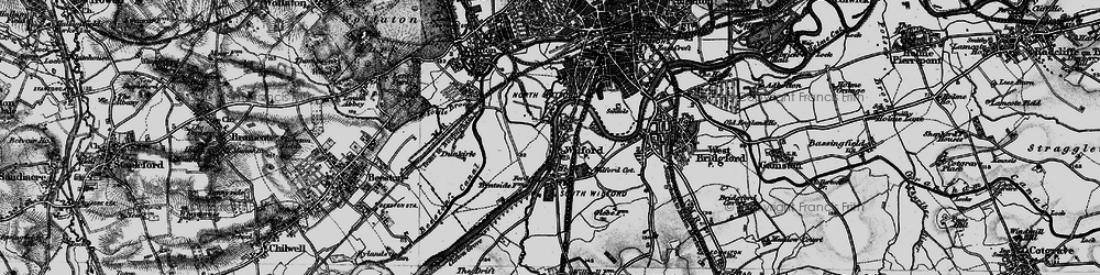 Old map of Wilford in 1899