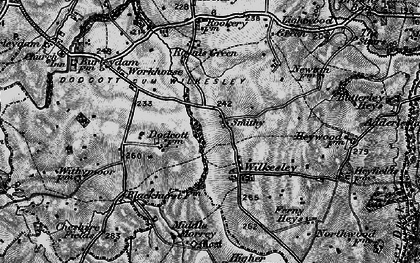 Old map of Wilkesley in 1897