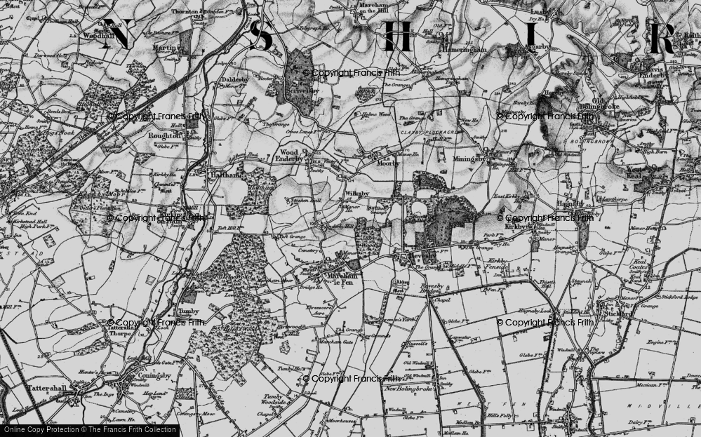 Old Map of Wilksby, 1899 in 1899