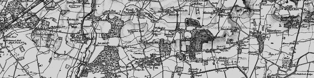 Old map of Wilksby in 1899