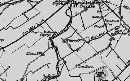 Old map of Will Row in 1899
