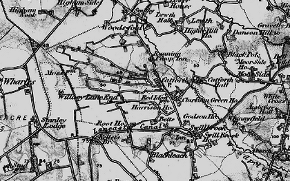 Old map of Willacy Lane End in 1896