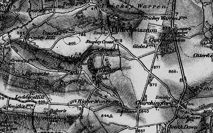 Old map of Willand in 1898