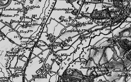 Old map of Willand Moor in 1898
