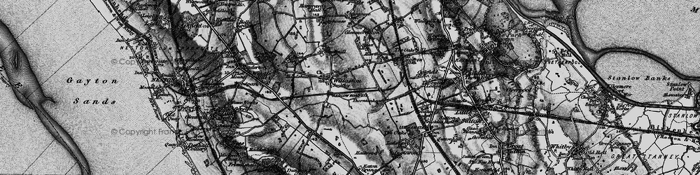 Old map of Willaston in 1896
