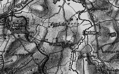 Old map of Willen in 1896