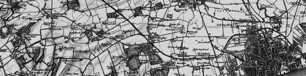 Old map of Willerby in 1895
