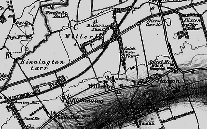 Old map of Willerby in 1898