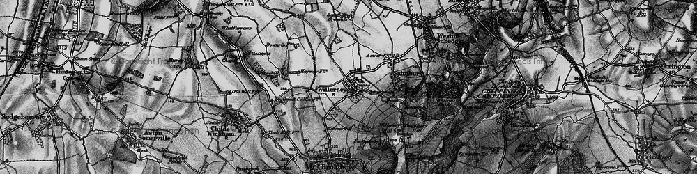 Old map of Willersey in 1898