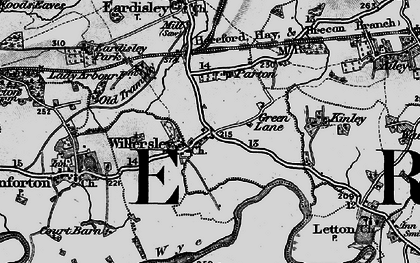 Old map of Willersley in 1898