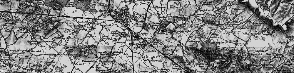 Old map of Willesborough in 1895
