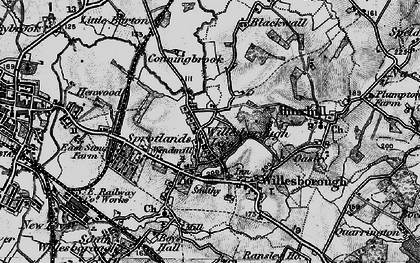 Old map of Willesborough Lees in 1895