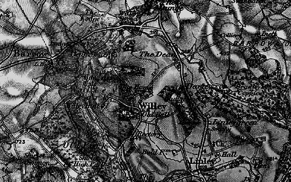 Old map of Willypark Wood in 1899