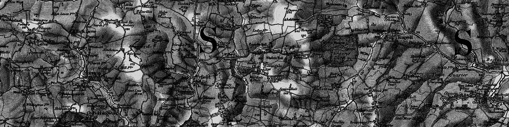 Old map of Willingale in 1896