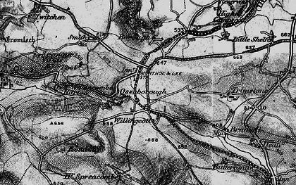 Old map of Willingcott in 1897