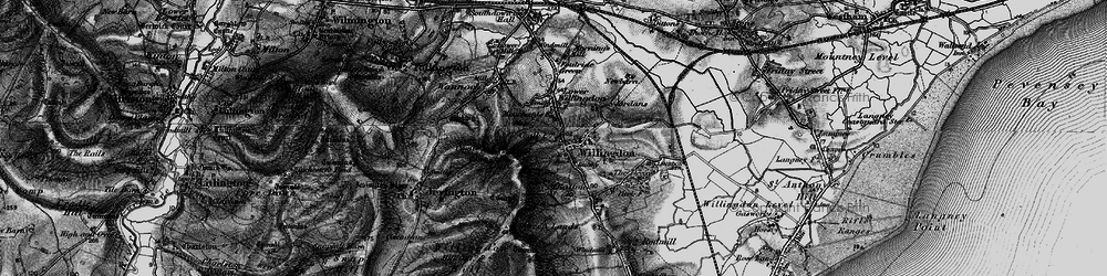 Old map of Willingdon in 1895