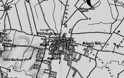 Old map of Willingham in 1898