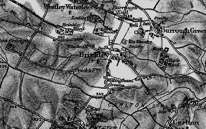 Old map of Willingham Green in 1898
