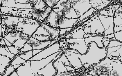 Old map of Willington in 1895