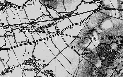 Old map of Willington in 1896