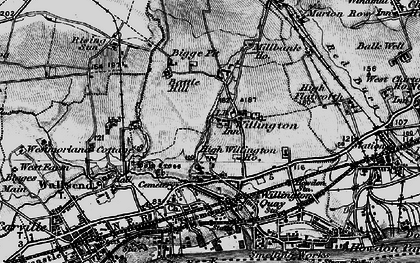 Old map of Willington in 1897