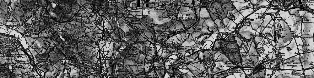 Old map of Willington in 1898