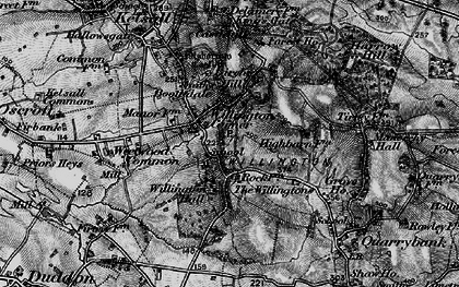 Old map of Willington Corner in 1896
