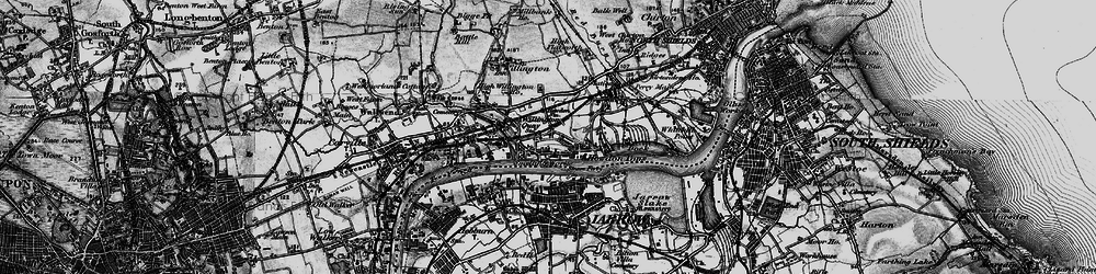 Old map of Willington Quay in 1897