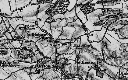Old map of Willisham in 1896