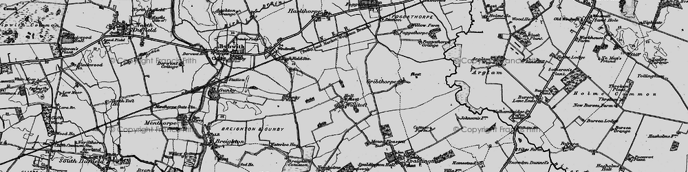 Old map of Willitoft in 1898
