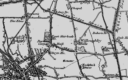 Old map of Willoughby Hills in 1898