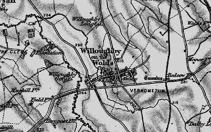 Old map of Willoughby-on-the-Wolds in 1899