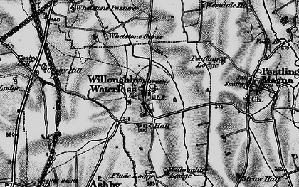 Old map of Whetstone Pastures in 1898