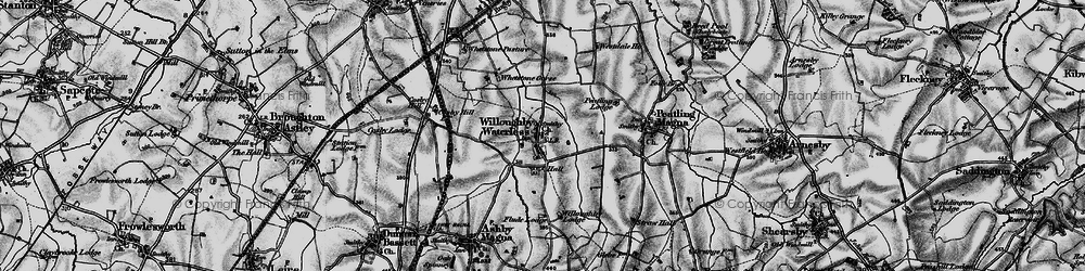 Old map of Whetstone Gorse in 1898