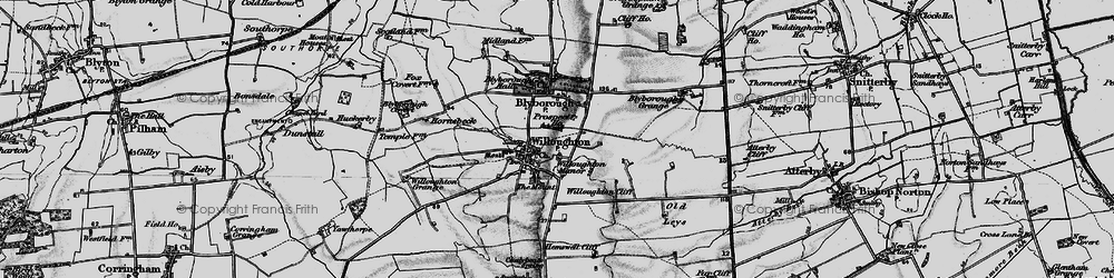 Old map of Willoughton Cliff in 1898
