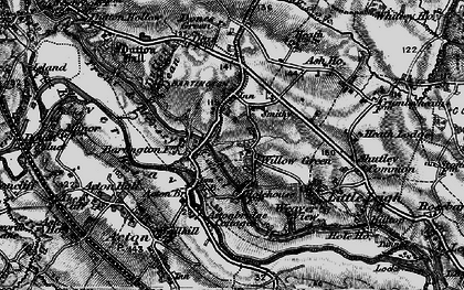 Old map of Willow Green in 1896