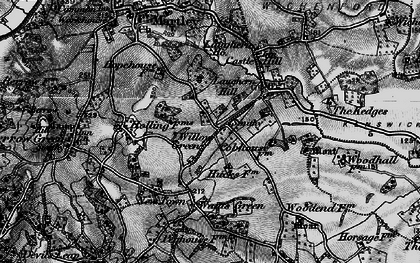 Old map of Willow Green in 1898