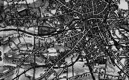 Old map of Willows in 1896