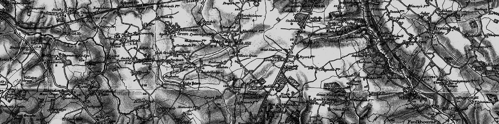 Old map of Willows Green in 1896