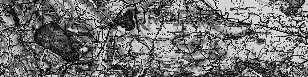 Old map of Willslock in 1897