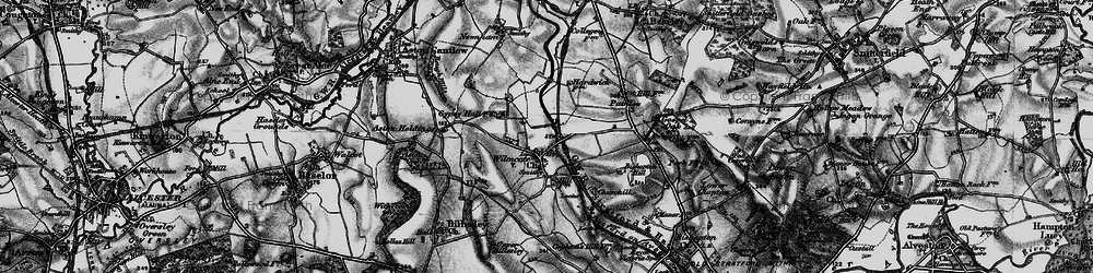 Old map of Wilmcote in 1898
