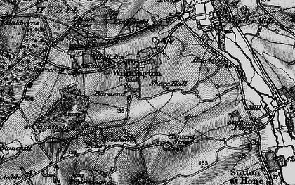 Old map of Wilmington in 1895