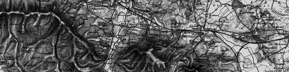 Old map of Windover Hill in 1895