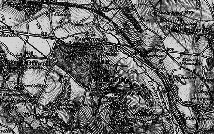 Old map of Widworthy Hill in 1898