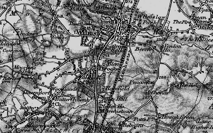 Old map of Wilmslow in 1896