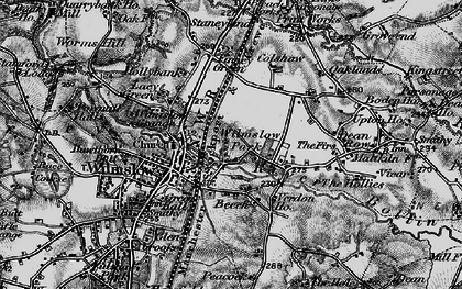 Old map of Wilmslow Park in 1896