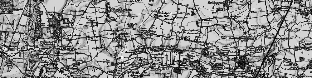 Old map of Wilney Green in 1898